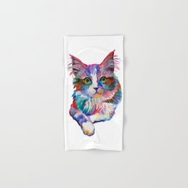 Cat with green eyes Hand & Bath Towel
