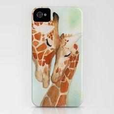 Watercolor Giraffes Slim Case iPhone (4, 4s)