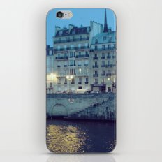 Paris by Night: Ile de la Cite iPhone & iPod Skin