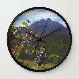 Blackberries Under Sleeping Beauty Wall Clock