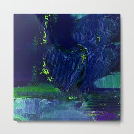 Heart Impressions No. 3c by Kathy Morton Stanion Metal Print