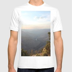 Grand Canyon, Colorado River MEDIUM White Mens Fitted Tee
