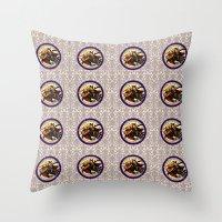 hocus pocus Throw Pillows featuring Hocus Pocus by GeekCircus