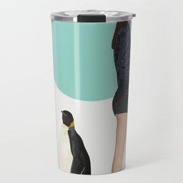 Girl & Penguin #2 Travel Mug