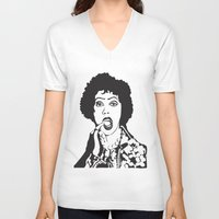 rocky horror V-neck T-shirts featuring Rocky Horror by Colesart