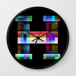 H like Hue and Saturation Wall Clock