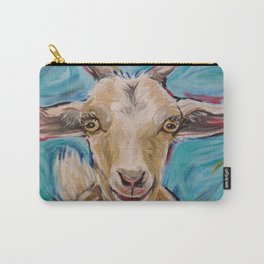 Goat Art, 'Buttercup' Goat Painting Carry-All Pouch