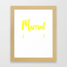just married, just married 10 years ago, 10 married gift, 10 anniversary gift, 10 year wedding Framed Art Print