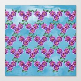 Purple Flowers Pattern Canvas Print