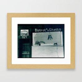 Bistro Au Ghetto Framed Art Print