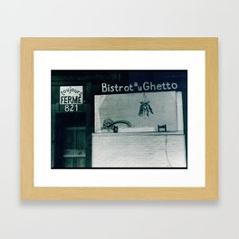 Bistro Au Ghetto Framed Art Print