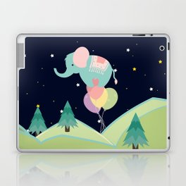 Elephant with Balloons, nursery decor , Laptop & iPad Skin