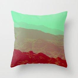 Palm Springs Mountains II Throw Pillow