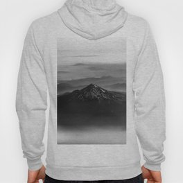 The West is Burning - Mt Shasta Black and White Hoody