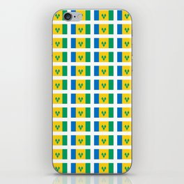 flag of Saint Vincent and the Grenadines-Saint Vincent,Grenadines,Vincentian, Vincy,Kingstown iPhone Skin