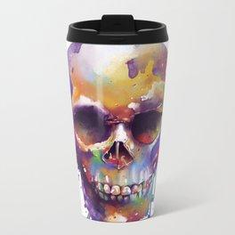 colorful skull Metal Travel Mug