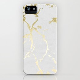 Kintsugi Ceramic Gold on Lunar Gray iPhone Case
