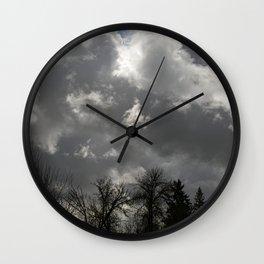 Moody Winter Sky Wall Clock
