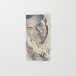 North by Northwest, Alfred Hitchcock, vintage movie poster, Cary Grant, minimalist Hand & Bath Towel