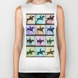 Time Lapse Motion Study Horse And Rider Color Biker Tank