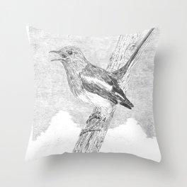 Tweeting a Message Throw Pillow
