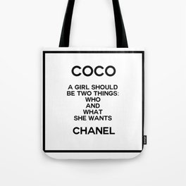 coco quote no. 5 Tote Bag