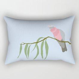 Pink and Grey Galah Rectangular Pillow