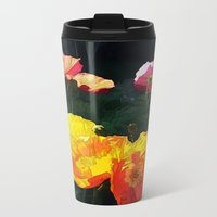 Poppies Four Metal Travel Mug
