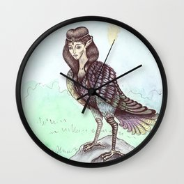 Gamayun bird Wall Clock