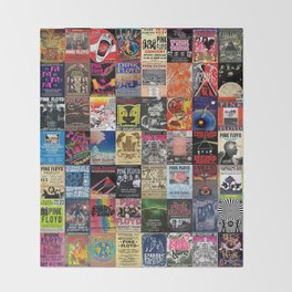 The Wall Concert Posters Throw Blanket