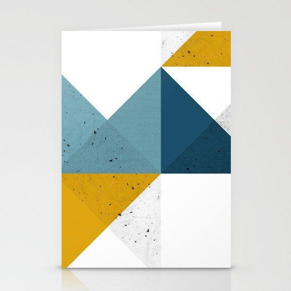 Modern Geometric 19 Stationery Cards