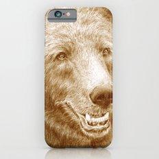 Brown bear is happy iPhone 6s Slim Case