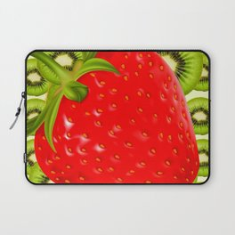 GREEN KIWI & RED STRAWBERRY ART Laptop Sleeve