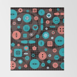 button it Throw Blanket