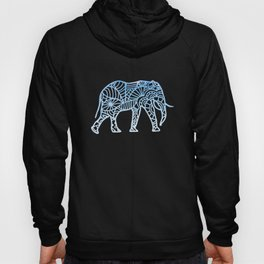 Elephant Mandala drawing colorful africa drawing Hoody