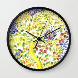 Fruit Tree of Life Wall Clock