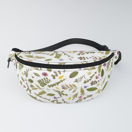 Greenery Floral Pressed Flowers Fanny Pack