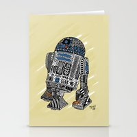 r2d2 Stationery Cards featuring R2D2 by Rebecca Bear