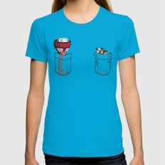 a little of Gravity Falls Womens Fitted Tee Teal X-LARGE