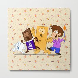 the smore's attacked Metal Print
