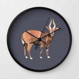 Geometric Ibex Wall Clock