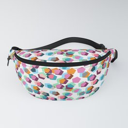 Abstract Pentagons - Under the Microscope Colorful Pattern Fanny Pack
