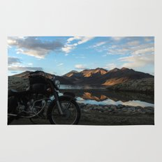 Lonely rider in the evening light...  Rug