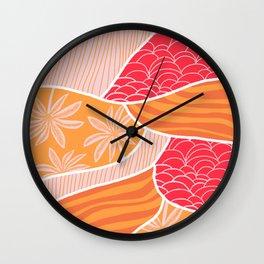 kauai, orange Wall Clock