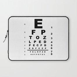 Eye Test Chart Laptop Sleeve