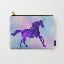 Purple Sparkly Unicorn Carry-All Pouch