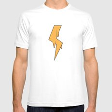 Greased Lightning White Mens Fitted Tee MEDIUM