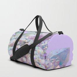 GLITTERING GREEN & PURPLE QUARTZ CRYSTALS ART Duffle Bag