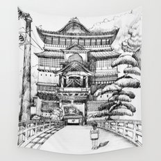 Spirited Away Bathhouse Wall Tapestry