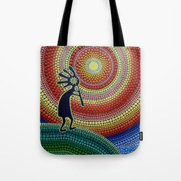 """Painting """"The Song of Kokopelli"""" Tote Bag"""